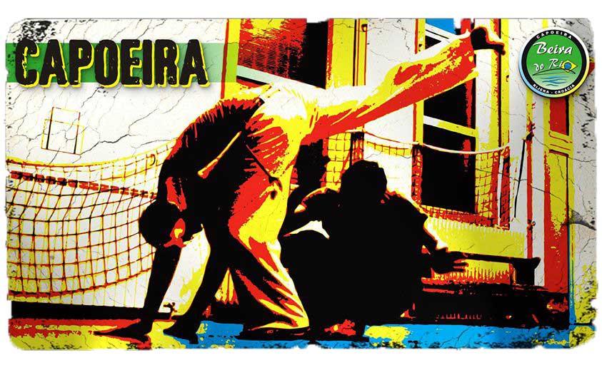 Capoeire Rijeka Beira do Rio dvoje capoeirista u pokretima