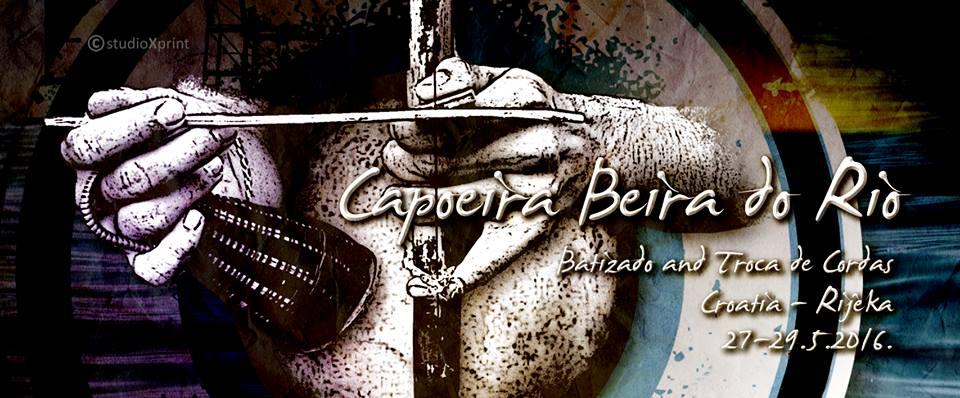 Capoeira Rijeka Beira do Rio dvoje capoeirista u pokretima